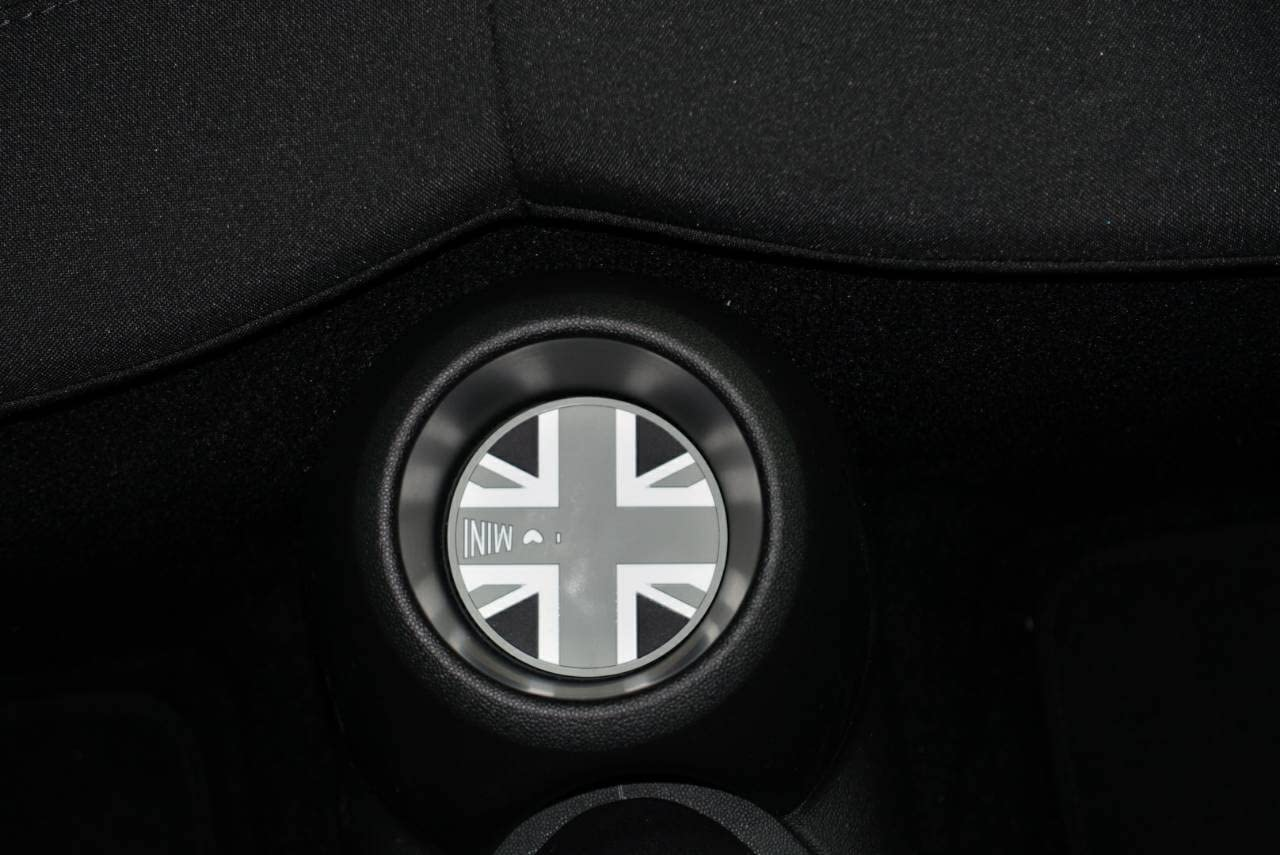 68mm Black Jack Style Soft Silicone Cup Holder Coasters for MINI COOPER F56//F55 Front Cup Holder