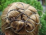Silver Celtic Hair Clip Metal Hair Clip Large Bun Holder Hair Fork Long Thick Hair, women Gift.