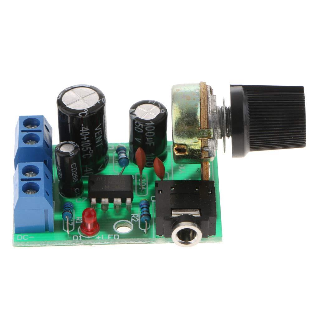 Shiwaki M/ódulo Amplificador De Potencia De Audio LM386 0.5-10W DC 3-12V Stereo Amp DIY Board