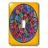 3dRose LSP_278312_1 Colorful Ceramic Mexican Plate, Guanajuato, Mexico Toggle Switch, Mixed