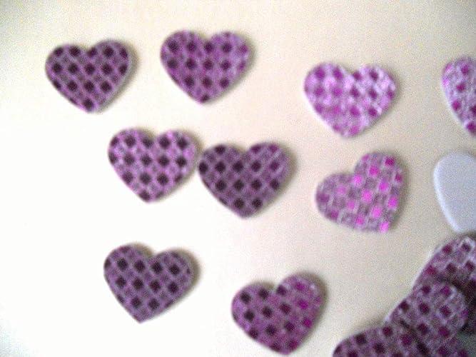 20 corazones de 2,5 cm x 2,5cm aprox. de tonos morados ...