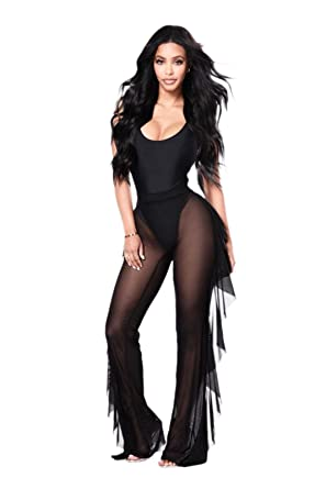 6a6fe67f0d Silky Girl Sheer Mesh Swimsuit Bikini Cover Up Pants | Harem Style  Polyester Beach Party Pant