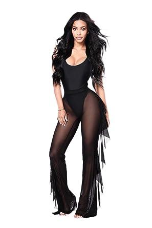 edd88e25360a8 Silky Girl Sheer Mesh Swimsuit Bikini Cover Up Pants | Harem Style  Polyester Beach Party Pant