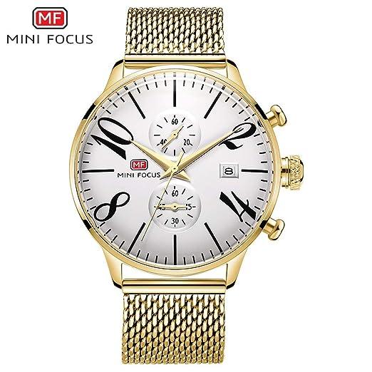 SJXIN Reloj Elegante Mini Focus/Calendario de la Moda de los Hombres con un Muy pequeño Reloj de Cuarzo del dial Relojes de Moda (Color : 3): Amazon.es: ...