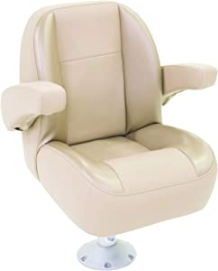 TaylorMade PRODUCTS 433051 Platinum Series Pontoon Furniture Beige Low Back Helm Seat