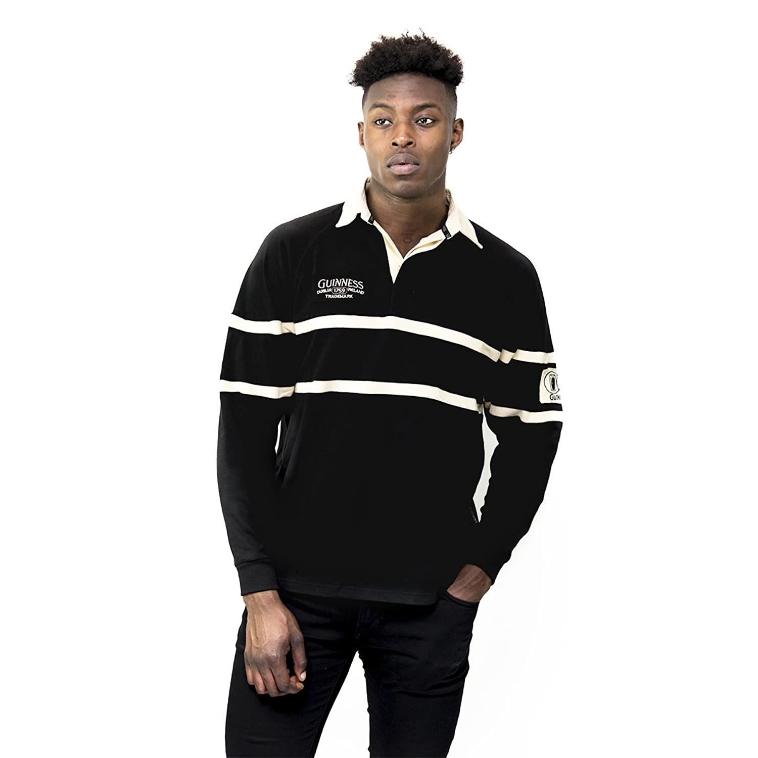 810b91487cf Guinness® Traditional Rugby Jersey Made from 100% Cotton, this jersey is  available in men\'s sizes Medium to 3X Large. This long sleeve rugby jersey  is a ...