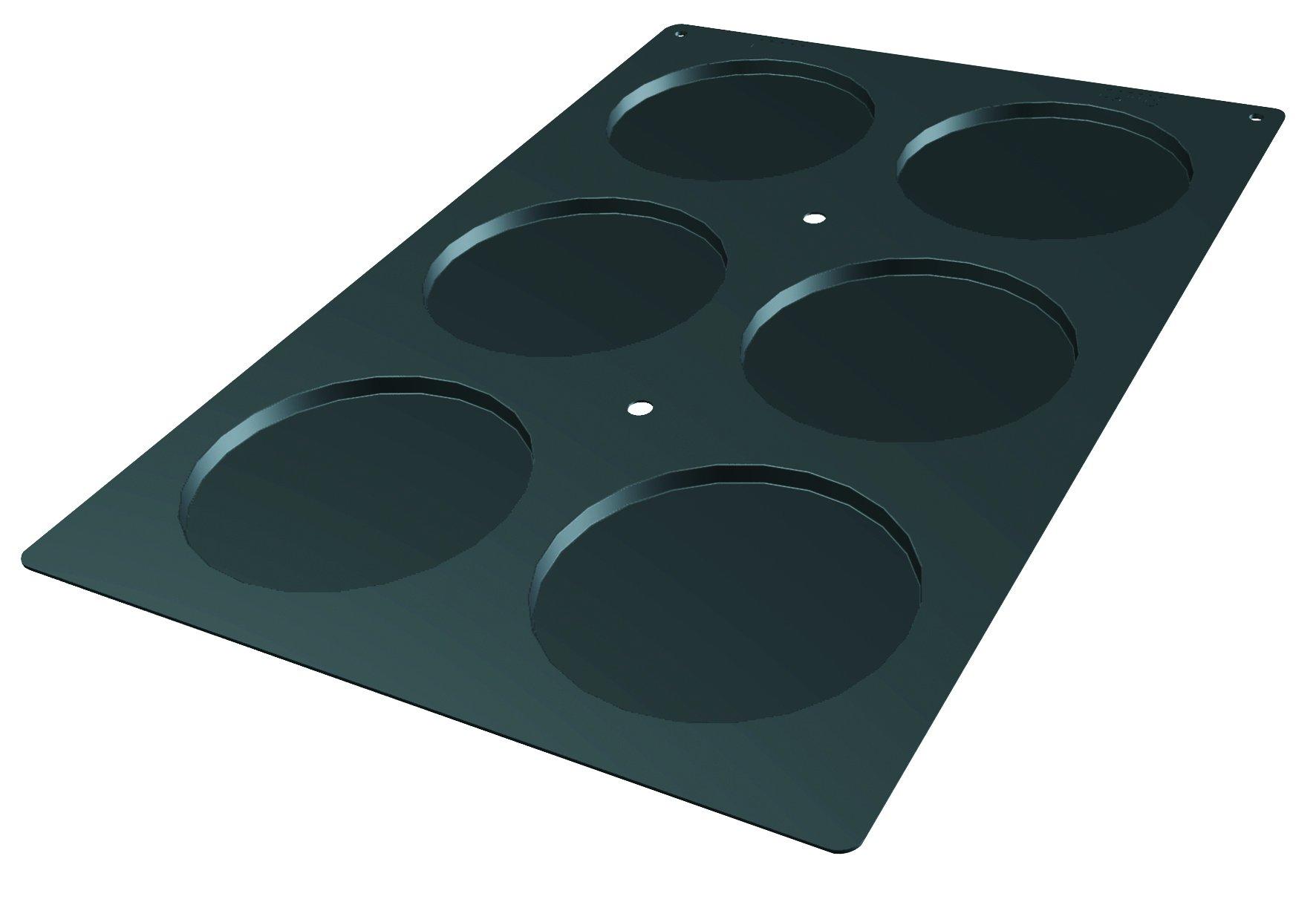 Lekue Professional Baking 6 Cavities Disc Mold, 23.6'' x 15.7'', Black
