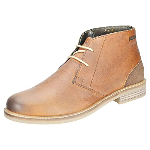 e579806d4fc Mens Barbour Readhead Leather Cognac Work Office Derby Shoes Ankle ...
