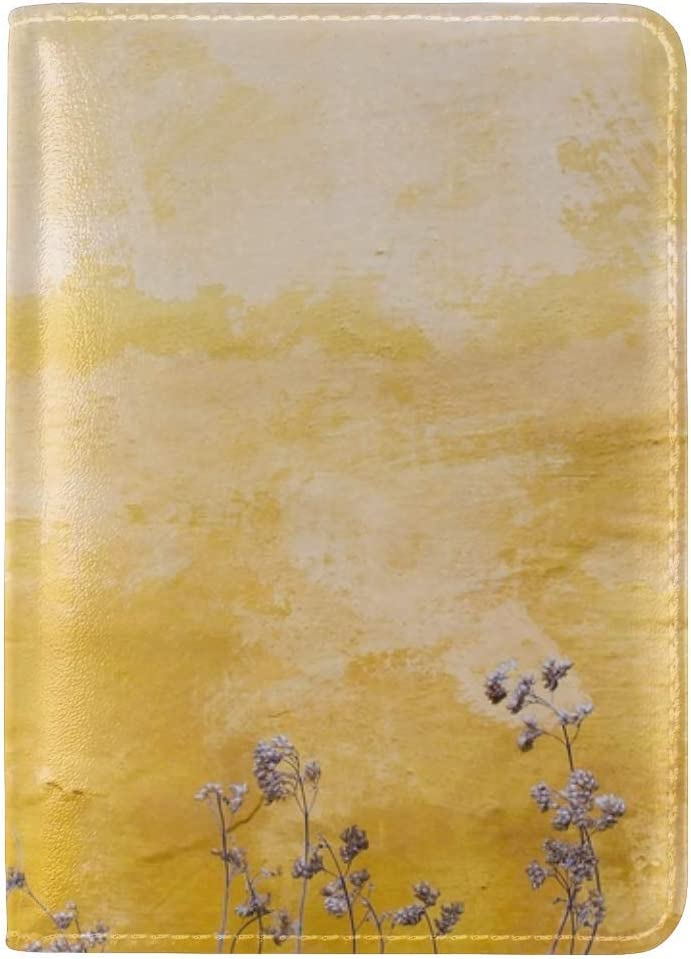 JiaoL Wall Plants Spots Leather Passport Holder Cover Case Travel One Pocket