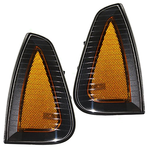Driver and Passenger Signal Side Marker Lights Lamps Replacement for Dodge 4806219AD 4806218AD AutoAndArt