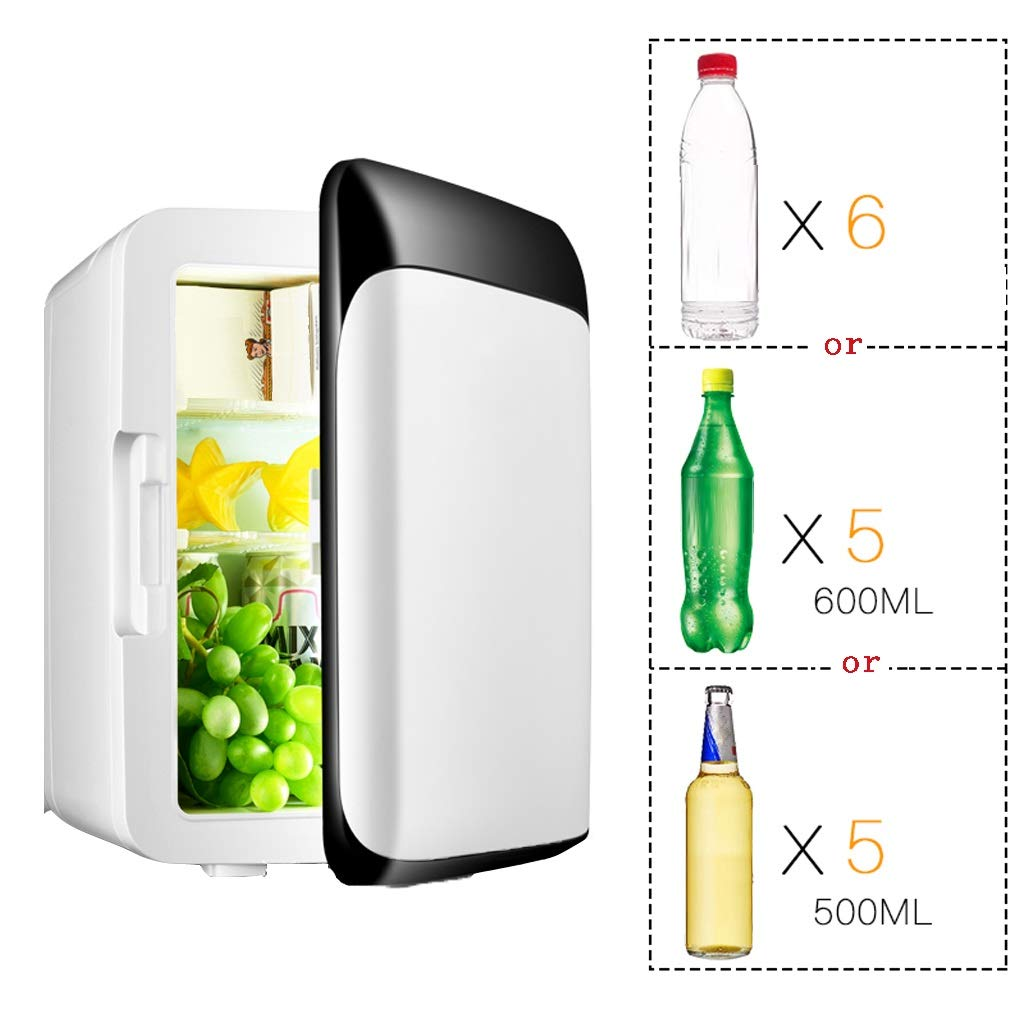 LSLMCS Mini Car Refrigerators 10L Car Refrigerator Mini Fridge Car Cooler/Car Portable Icebox Small Freezer Cold and Warm Freezer Electric Cool Box (White) by LSLMCS