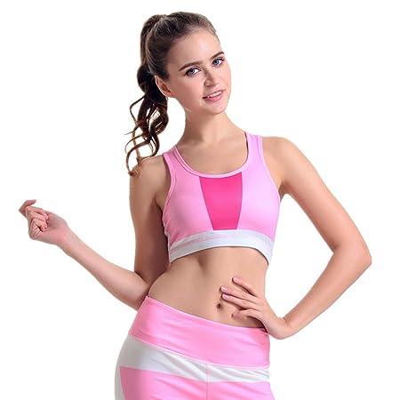 ChenBing-tow Sujetador de Yoga elástico para Mujer Sujetador ...