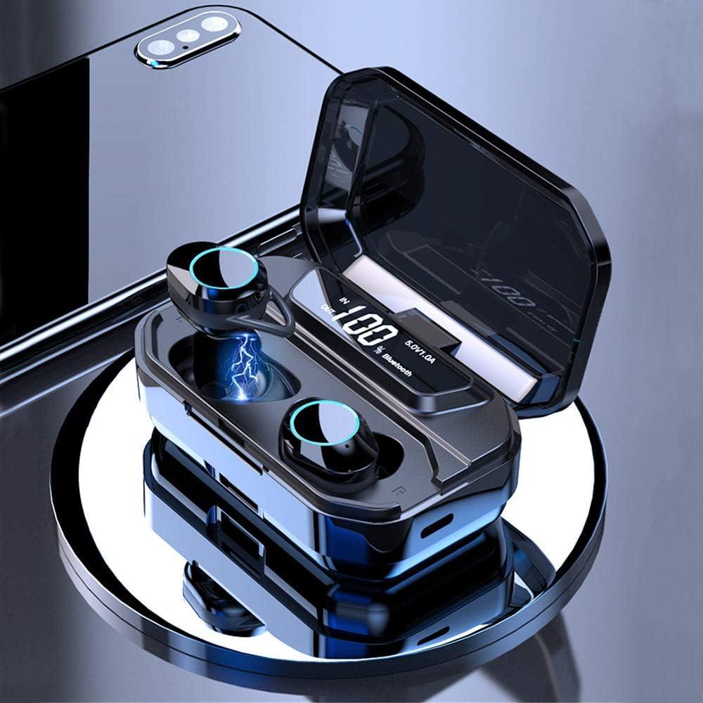OUYAWEI G02 TWS 5.0 Bluetooth 9D Stereo Earphone Wireless Earphones IPX7 Waterproof Earphones 3300mAh LED Smart Power Bank Case