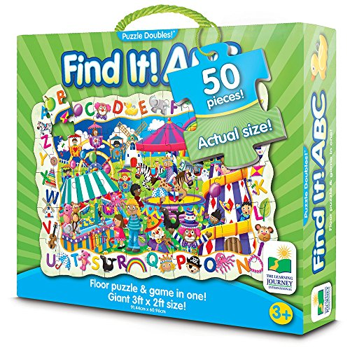 The Learning Journey Puzzle Doubles Find It! ABC Floor Puzzle ()