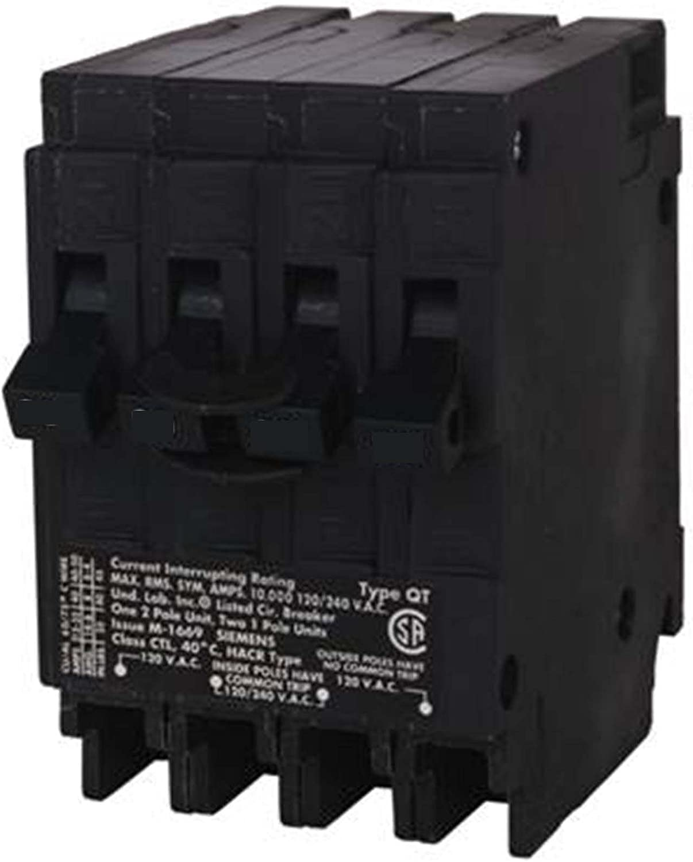 New Siemens Q21515CT 15-Amp Double Pole Two 15-Amp Single Pole Circuit Breaker