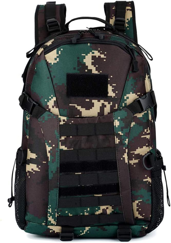 YHSW Mochila Militar táctica Multifuncional Senderismo Adulto/Senderismo/Mochila al Aire Libre Lu Camo 48x30x14cm