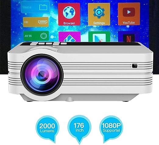 EJOYDUTY Mini proyector doméstico, proyector de vídeo 2500 Lux ...
