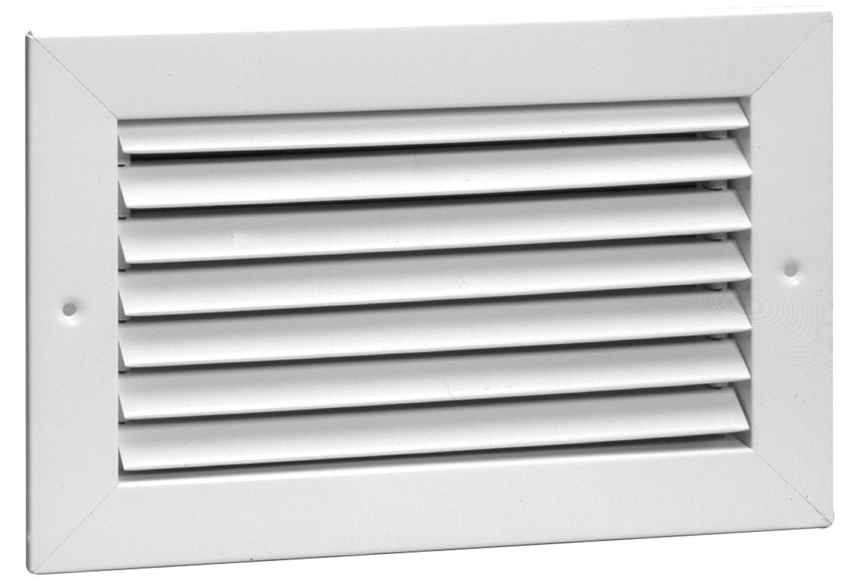 8'' x 8'' Fixed Bar Return Grille - All Steel Structure - Elegant Look & Sturdy Finish [Outer Dimensions: 9.75''w X 9.75''h]