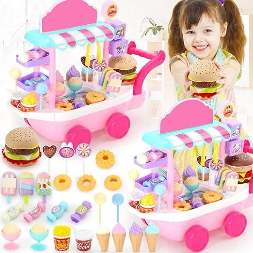Mini Ice Cream Candy Trolley House Play Juguetes educativos