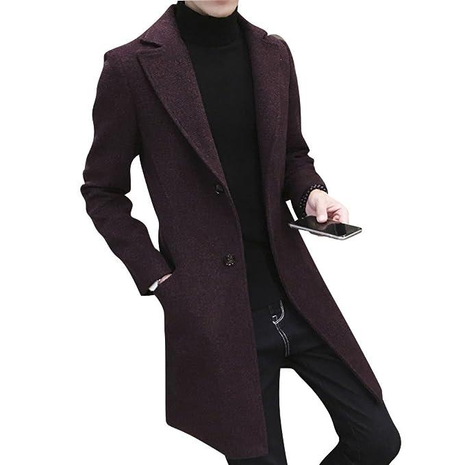 Classico Giacca Fit Slim Uomo Manica Coat Trench Lunga Cappotto 0gU8FqU