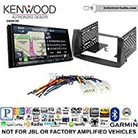 Volunteer Audio Kenwood DNX874S Double Din Radio Install Kit with GPS Navigation Apple CarPlay Android Auto Fits 2003-2008 Non Amplified Toyota Corolla