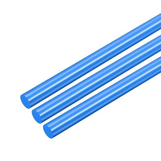 POM sourcing map 2pcs Plastic Round Rod 1//8 inch Dia 20 inch Length White Polyoxymethylene Rods Engineering Plastic Round Bars