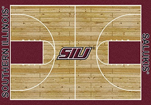 Southern Illinois Salukis Rug (College Court Southern Illinois Salukis Rug Size: 5' 4
