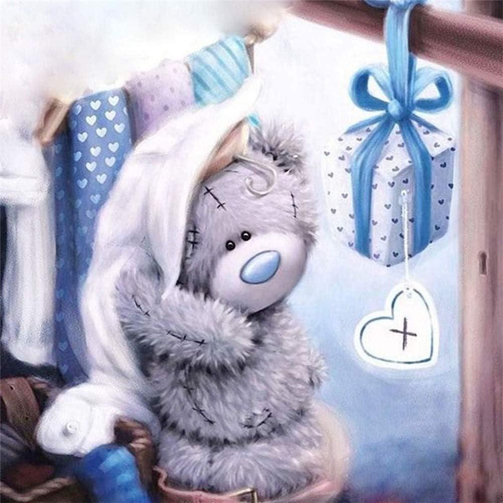 5D DIY Diamond Painting Gray Bear Cross Stitch Kit Home Decoration Art Gifts