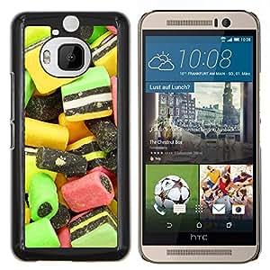 For HTC One M9Plus M9+ M9 Plus Case , Diseño Caramelo Macro- Diseño Patrón Teléfono Caso Cubierta Case Bumper Duro Protección Case Cover Funda