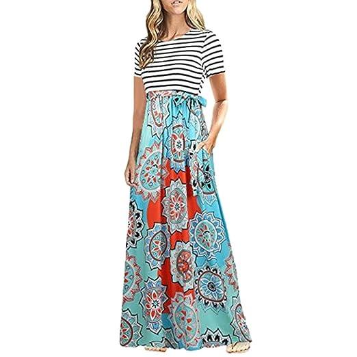 Cap Sleeve Long Women Maxi Dress Stitch