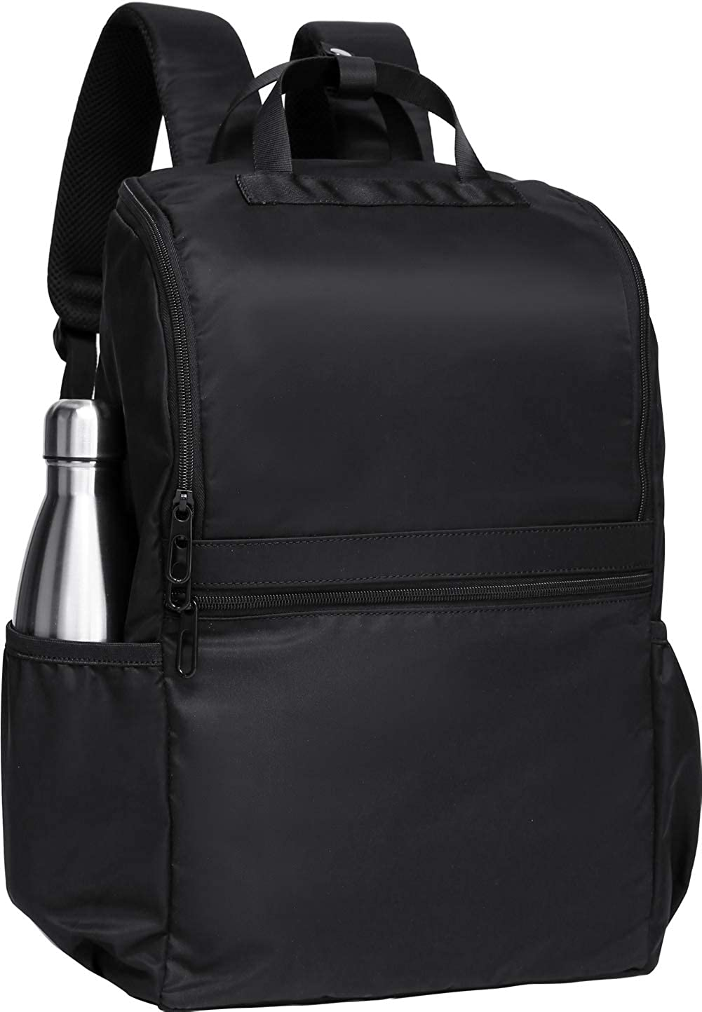 Black Backpack 14 Pockets 0.8lb Lightweight Laptop Bag Waterproof Travel School