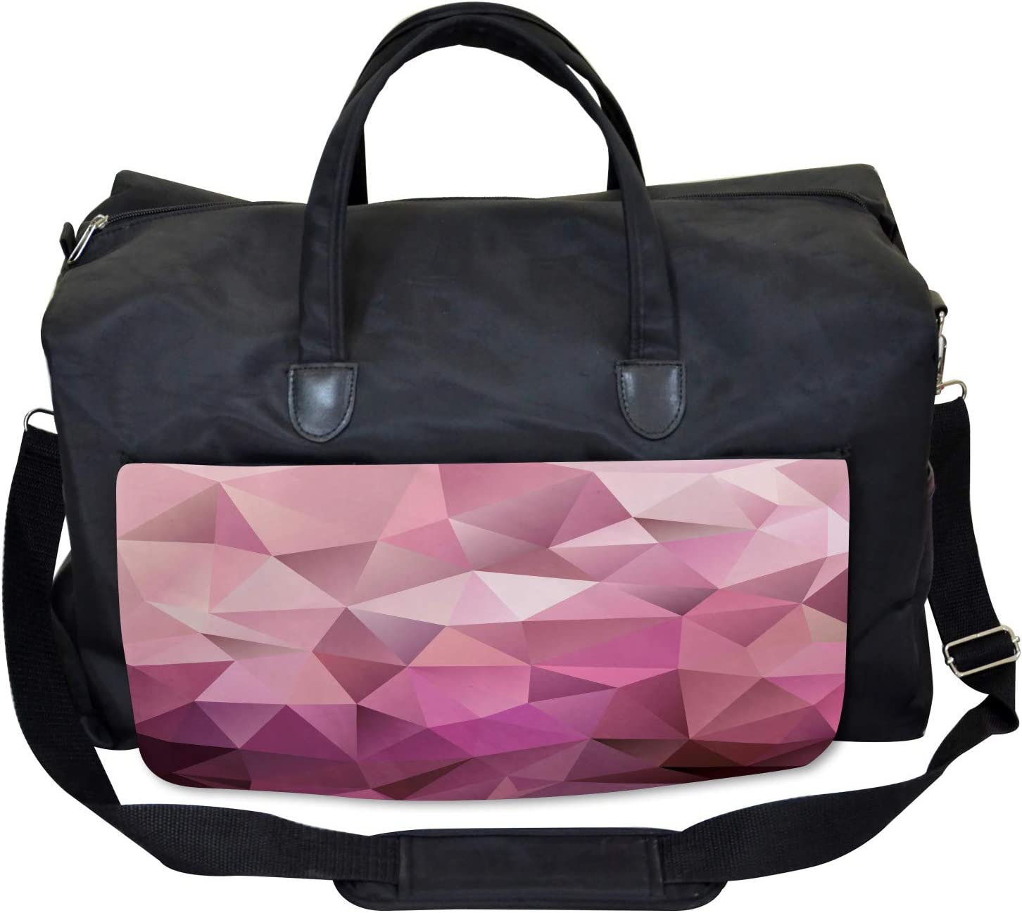 Triangle Diamond Shape Ambesonne Abstract Gym Bag Large Weekender Carry-on