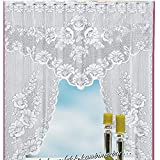 Hot Sale!DEESEE(TM)🌸🌸Vintage Style Lace Coffee Curtain Kitchen Curtain Vintage Style Window Scarf (B)