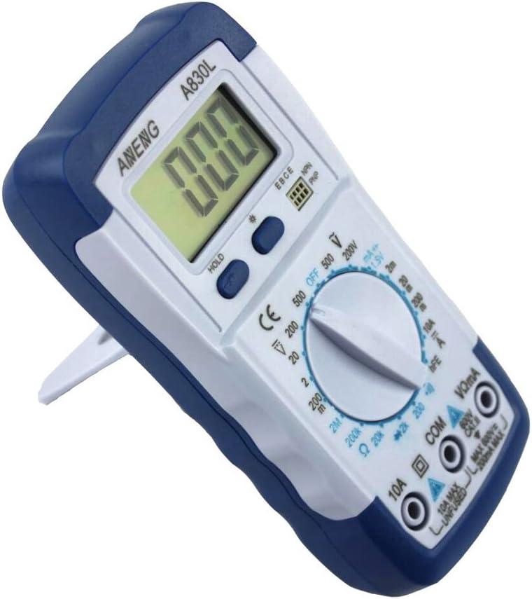Lcd Dc Multim/ètre Num/érique Tension Alternative Multi-testeur A830l-bleu Avec Du Blanc
