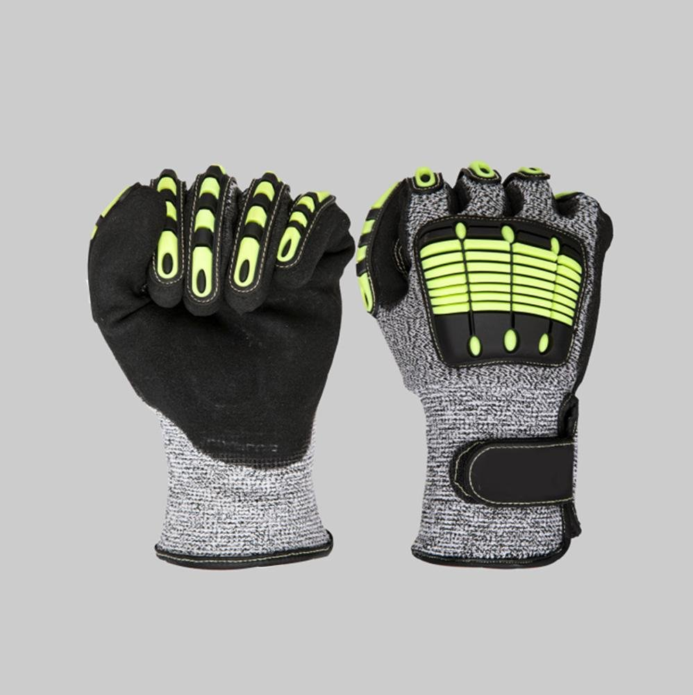 Outdoor sports climbing gloves anti - collision high - altitude work loading and unloading rubber safety equipment