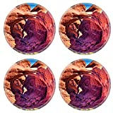 MSD Round Coasters Non-Slip Natural Rubber Desk Coasters design 24253429 Double Arch Windows Section Arches National Park Moab Utah USA Southwest