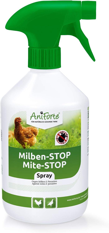 AniForte Aerosol para Pollos y Aves de Corral 500 ml - contra ácaros y parásitos, ácaros del Polvo, Aerosol Ambiental y Aerosol de Contacto, para infestaciones agudas y Medidas preventivas