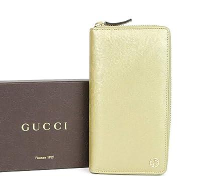 43b225c34596 Amazon.com: Gucci Gold Betty Leather Interlocking G Zip Around Wallet  309705 7100: Shoes