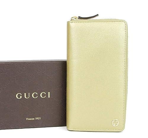 Gucci Piel dorada de Betty enclavamiento G Zip alrededor de cartera 309705 7100: Amazon.es: Zapatos y complementos
