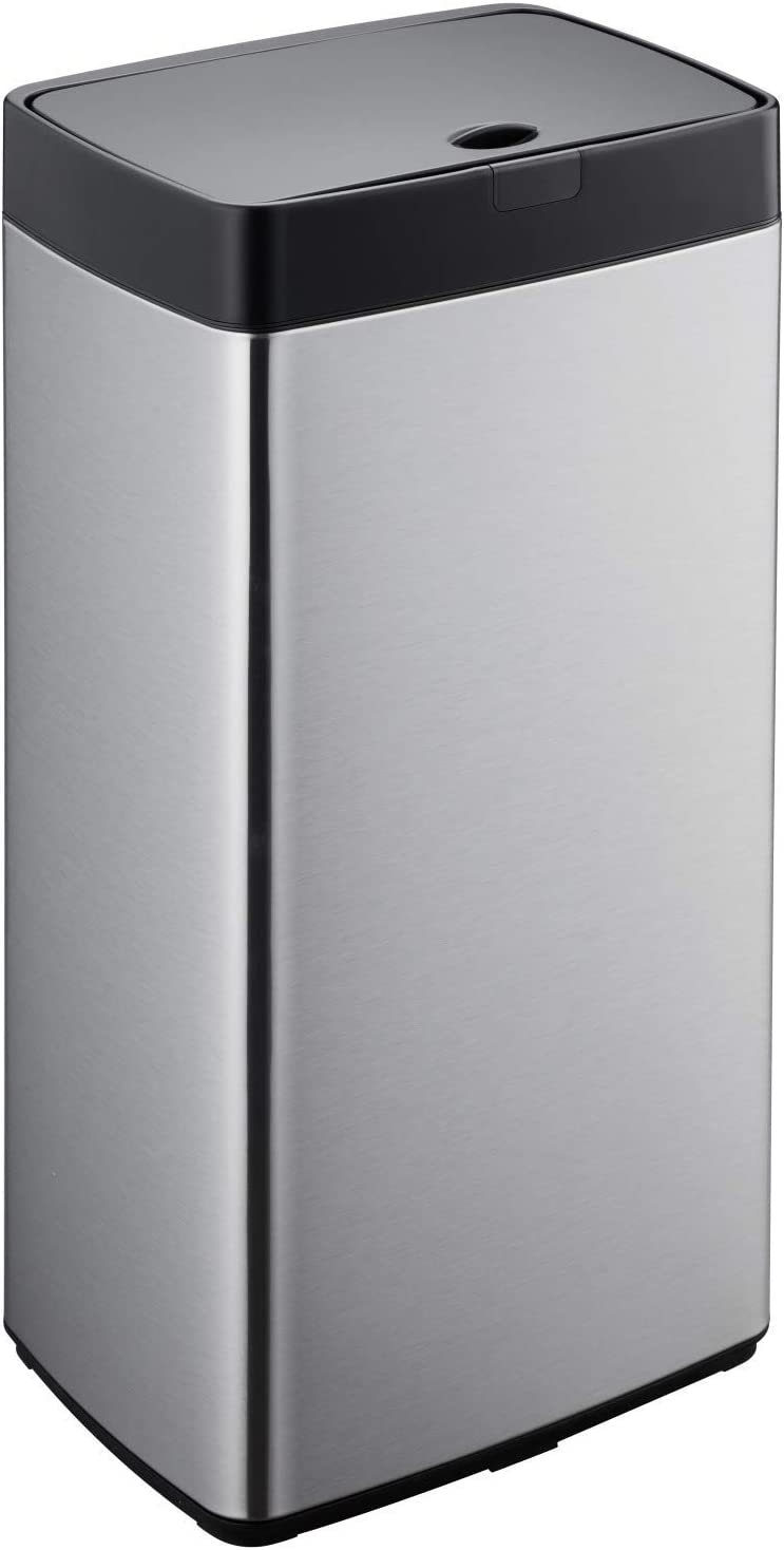 Simpli-Magic 79207 Stainless Steel Sensor Trash Can, Rectangle, 13 Gallon