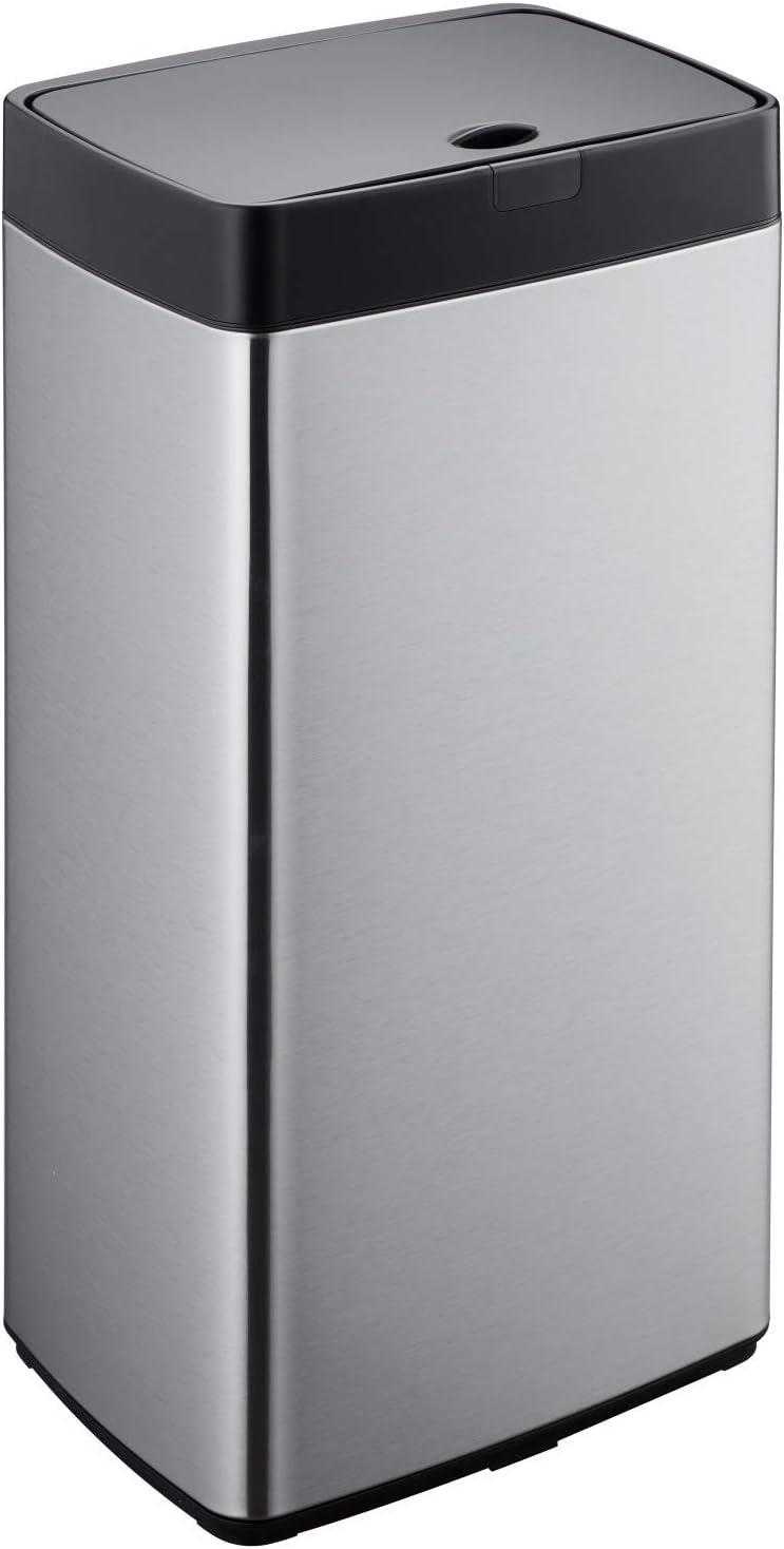 Simpli-Magic 79207 Stainless Steel Sensor Trash Can, Rectangle, 13 Gallon