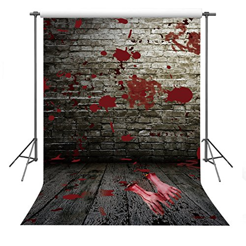 FUERMOR Halloween Background 5x7ft Bloody Wall Broken Hands Photography Backdrop Photo Props Y220]()