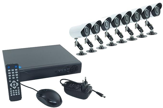 Kit dvr ahd videosorveglianza 8 telecamere ir cctv hdmi 8 ch canali
