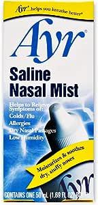 Ayr Saline Nasal Mist, 1.69 Fl Oz (Pack of 6)