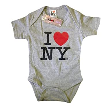 Nyc Factory I Love Ny New York Baby Infant Screen Printed Heart