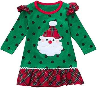 K-youth Vestidos para Niñas De Navidad Ropa para Bebe Niña Navidad Recién Nacido Vestido de Princesa Infantil Vestido de Niña para Fiestas Papá Noel Invierno Disfraz en Liquidacion