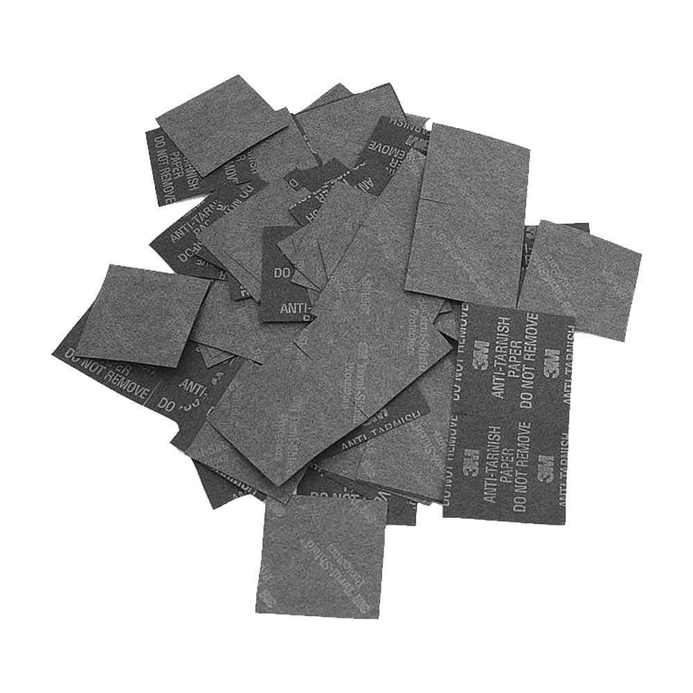 3M Anti-Tarnish Sterling Silver Jewelry Silverware Saver Paper Strips 1 x 1 inch PACK OF 500
