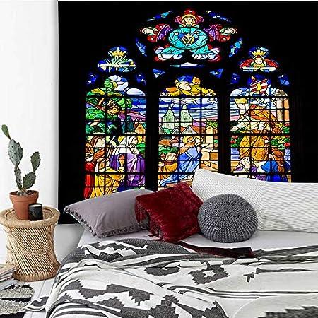 tianlongVIP Tapicería de Pared de Piedra de ladrillo Impresa Mandala Colgante Tapiz de Hippie psicodélico Bohemio Toalla de decoración del hogar