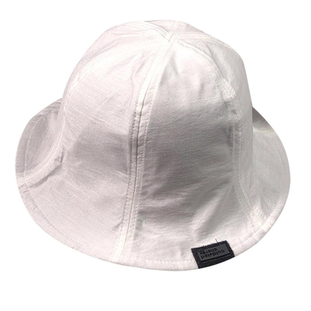 45153f42b13 Transer Bucket Hat - Womens Mens Double Fabric Reversible Boonie Hats  Nepalese Cap Army Fisherman Hat Sun Hats (White)  Amazon.in  Clothing    Accessories