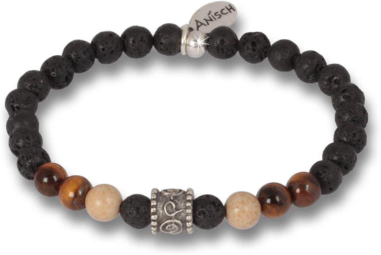 anisch de la cara hombre pulsera Hakuna Matata Beads Tigereye Jasper–6mm perlas